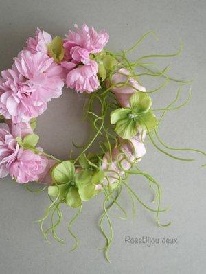画像1: 桜リースコサージュ