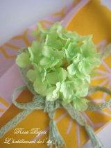 【花髪飾り*帯飾り】紫陽花ライトグリーン